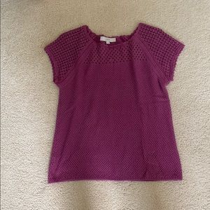 LOFT Sweater Top in Magenta